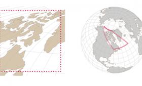 2Dと3Dで地図の投影法によりどれぐらい歪むか体験できる「visualizing map distortion」
