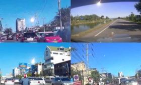 タイの青空に落下してまばゆい閃光を放った流星を撮影したムービーまとめ