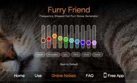 猫好きのためのノイズ、猫のゴロゴロ声シミュレーター