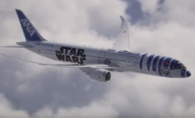 ANAのスター・ウォーズなR2-D2飛行機、お披露目!