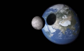 もし月が地球に衝突したらどうなるのか?3Dシミュレーションした動画