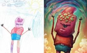 子どもたちが描いた空想上の生き物をプロのアーティストたちがリアルに発展させる「モンスタープロジェクト」