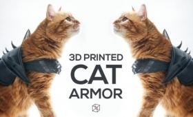 猫用甲冑が3Dプリンターで作れる!3Dデータが無料でダウンロード配信中