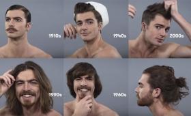アメリカ人男性の100年間のヘアスタイルの流行の変化を1分で
