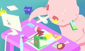 「ストレス」が身体に及ぼす悪影響をアニメーションで解説