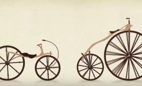 なるほどこれはわかりやすい。60秒でわかる自転車、進化の歴史