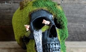 スカルに花を咲かせましょう。本物の人骨から型を取った頭蓋骨盆栽キットがナウオンセール!
