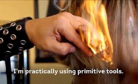 刀剣と炎を駆使して散髪する恐るべき美容院が実在する