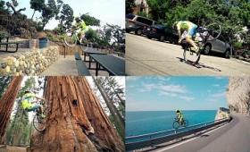 ロードバイクが宙を飛ぶ、自転車トライアルの元王者がアリエナイ場所を走るタマヒュンムービー