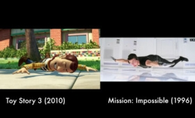 ピクサーがこれまでの名作映画をオマージュしまくっているシーンを集めたムービー「Pixar's Tribute to Cinema」