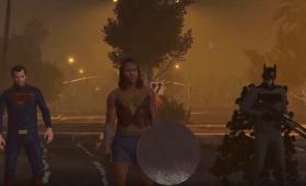 GTAで再現した『バットマン vs スーパーマン』は体型がゆるい