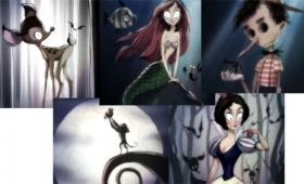 もしティム・バートンがディズニーアニメを描いたら?