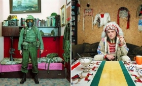ポーランドでひそかなブーム。お気に入りの歴史的武具・戦闘服に身を包んでご満悦のおじさんたち