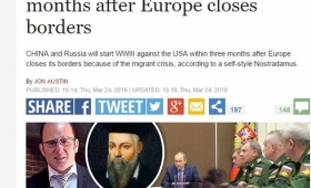 【悲報】世界終了!新・ノストラダムス「3か月以内に第三次世界大戦勃発」を予言!