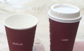 【悲報】ショック!某コーヒーショップの「L」と「R」の内容量が同じだと話題に