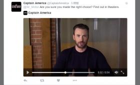 キャプテン・アメリカから動画で返事が来る「シビル・ウォー」Twitterキャンペーン