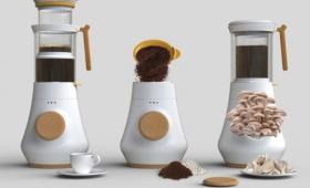 なんか生えてる!コーヒーメーカーでキノコを栽培するという新発想