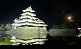 Matsumoto Castle by Night.