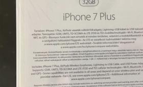 iPhone 7 Plus 32GBの仕様書?ワイヤレスイヤホン「AirPods」が同梱されるみたい