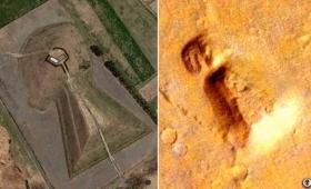 【朗報】火星に「前方後円墳」が発見される!日本に文明を伝えたと主張!