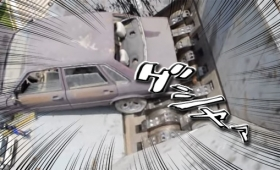 ゾクゾクする動画。車一台丸ごとシュレッター、3分半で完全スクラップに!