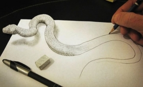 これを鉛筆で描いただって? 三度見しても信じられない立体絵画