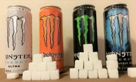 【マジかよ!】エナジードリンクのモンスターに含まれる炭水化物の量を角砂糖で視覚化した結果!