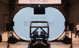 HMD無しにVR的没入感を。視界を覆う半球型の映像装置「8K:VR Ride」を体験