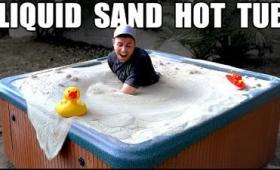 固い砂が液体のように波打つようになる「流動層」の実験をお風呂サイズでするとすごいことに