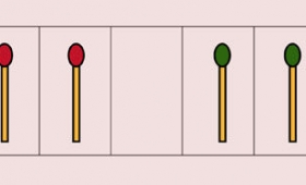 赤と緑のマッチ棒を「たった8手」で入れ替える問題が難問過ぎる!