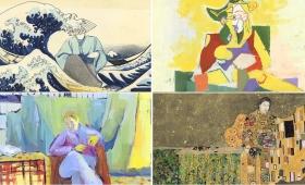 古代エジプトから現代アートまで、1人の人物を主点にした様々な画風を1分間で見る映像「One Minute Art History」