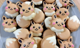 Eevee FromPokémonMakes Macrons Look Cute And Delicious