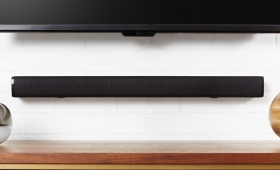 Upgrade Your Bedroom TV With This $45 AmazonBasics Sound Bar
