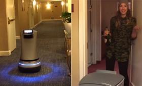 思い描いていた未来が既に来てた!ルームサービスロボットが闊歩して望みの物を持ってきてくれるホテル