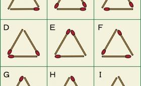 集中力が高ければ即答できる?!デザインが同じ正三角形を見つけ出す問題!
