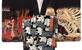 骸骨ワラワラ・・・ 歌川国芳が描いた浮世絵「相馬の古内裏」の着物がすごくイイ!