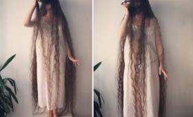 イギリスのラプンツェル女性は約20年間髪を洗わずに、美しいロングヘアを維持
