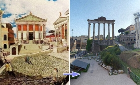 古代ローマの歴史的建造物の当時の姿を再現。今の姿と比較してみたローマ建築ビフォア・アフターで名所めぐり