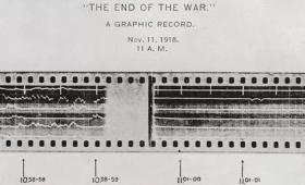 100年前に録音された銃声から第一次世界大戦終結の瞬間を「1分間の音」で再現するとこんな感じ