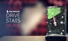 約15万台のHDDを運用するBackblazeがHDD故障率レポート2020年Q3版を公開、18TBモデルなど大容量化が進む